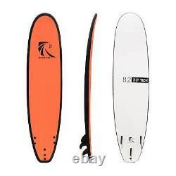 Raystreak 8'2 School Learner Softboard 8ft2 Soft Top Foam Surfboard Surf Leash
