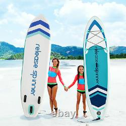SILYINTERES 10' 6'' thick Inflatable Stand Up Paddle Board Wide Stance SUP kit