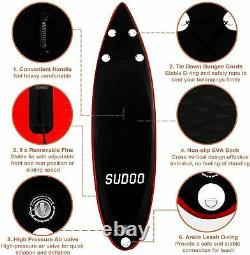 SUDOO 10' SUP Board Inflatable Stand Up Paddle Board Surfboard WithComplete Kits