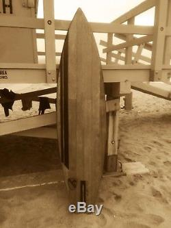 SURFBOARD WOOD WEBSTER ORIGINAL Vintage Vietnam 1st Calvary-CHARLIE DON'T SURF