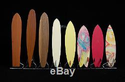 Scale Model Surfboard Collection Wood Trophy Tom Blake Kahanamoku MR Gerry Lopez