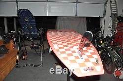 Steve Morgan Surfboard 9'0 Pink Checkered Surfboard