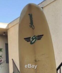Stewart 9'0 longboard surfboard good shape with fin and leash