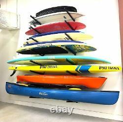 StoreYourBoard 4 Paddleboard Storage Rack, Adjustable Wall Mounted SUP Organizer