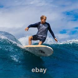 Surfboard 8' Waterproof EPS Foam Core HD Polyethylene Slick Bottom IXPE/XPE Deck