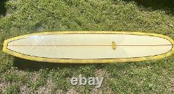 Surfboard Bing Noserider Single fin Longboard, Vintage Style Dewey Weber Floral