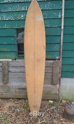 Surfboard, Vintage 1960s Leroy Ah Choy original signature, One of a kind