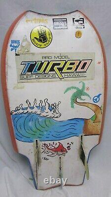 TURBO SURF DESIGNS HAWAII bodyboard RARE DESIGN