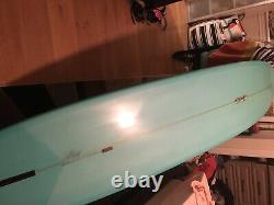Teal Blue custom surfboard longboard