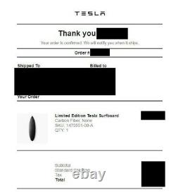 Tesla Carbon Fiber Surfboard Only 200 Made