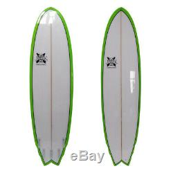 The Big Boy Fish Poly Surfboard Fish 6'8 x 22 x 3 by JK 7ft
