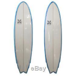 The Big Boy Fish Poly Surfboard Fish 7'3 x 22 x 3 by JK 7ft