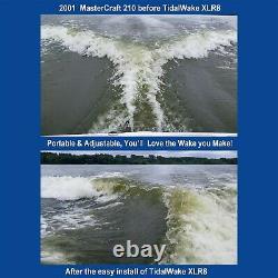 Tidal Wake XLR8 Wake Surf Shaper Wave Maker for Inboard Boats, Silver/Blue 75634