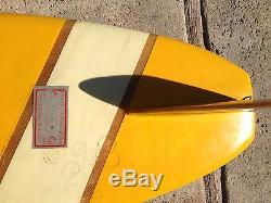 VINTAGE SURFBOARD Rare 1960's Longboard