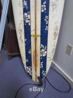 VINTAGE signed DONALD TAKAYAMA LONG BOARD SURFBOARD, 114 INCHES, HAWAIIAN PRO