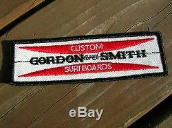 Vintage 1960s Gordon & Smith surfing surfer jacket patch longboard surfboard