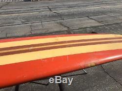 Vintage 1960s Wardy surfboard longboard