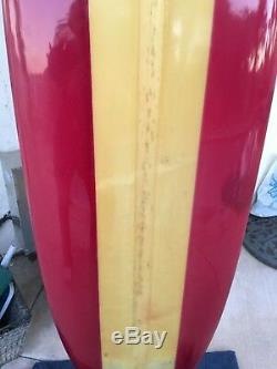 Vintage 1961 Gordon & Smith 9'3 Surfboard La Jolla Address Restored Very Clean