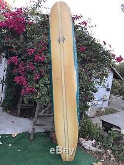 Vintage 1966 Rick UFO Longboard 98 Single Fin Surfboard