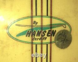 Vintage 1967 Hansen Cardiff MIKE DOYLE Signature Model Surfboard 8' 3 Pintail