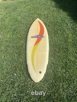 Vintage 1970's Bronzed Aussies Single Fin Surfboard Surfing