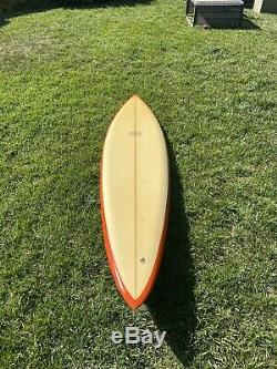 Vintage 1970's Dick Brewer Surfboard 72 Surfing