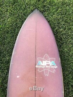 Vintage 1970s Aipa Single Wing Stinger Swallow Tail Surfboard Hawaii