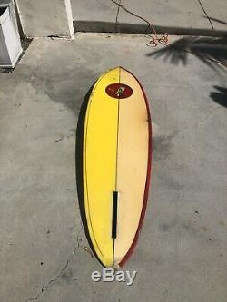 Vintage 1970s Chris Hawk Single Fin Surfboard