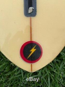 Vintage 1970s Lightning Bolt Surfboard 610