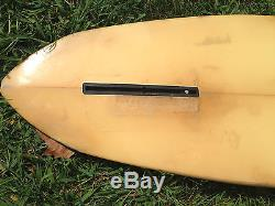 Vintage 1970s era Harbour surfboard GREEN 62 single fin