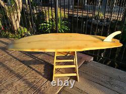 Vintage 1976 Reno Abellira Gerry Lopez Swallow Tail Lightning Bolt Surfboard