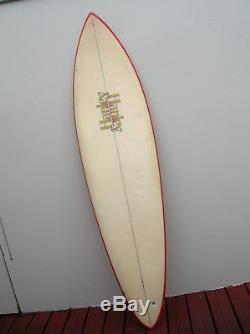 Vintage 1977 hanley pipeline gun surfboard surfer surfing longboard hawaii surf