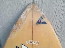 Vintage 1980s Peter Schroff Baby Swallow Surfboard 5'6 Tri Fin Thruster Surf