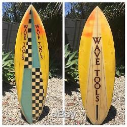 Vintage 1980s Wave Tools Surfboard