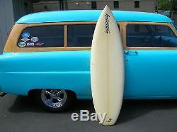 Vintage 1980s hot moves quad fin surfboard surfer sweet surfer surfing surf
