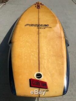 Vintage 1981 Wave Tools Surfboard by Lance Collins early Thruster 6'0