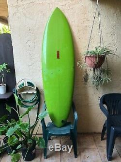 Vintage 511 Nomad surfboard, single fin, Rainbow Fin, circa 1976