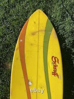Vintage 61 Schroff Twin Fin Surfboard Retro vintage surf