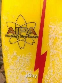 Vintage Aipa Lightning Bolt Surfboard