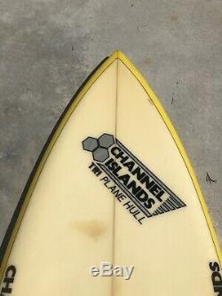 Vintage Al Merrick Twin Fin Surfboard 1980s