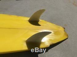 Vintage Al Merrick Twin Fin Surfboard 1980s Rare Tom Curren