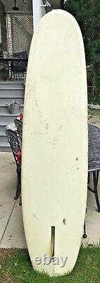 Vintage Bing Surfboard Australian V Bottom 7' 10 Board #1332. July 3 1968