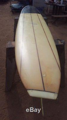 Vintage CARL EKSTROM ASYMMETRIC SURFBOARD 10'3x 22-1/2x 3