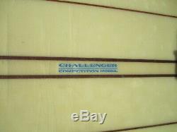 Vintage Challenger Custom Longboard Surfboard 10' 2 Competition Model