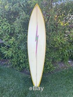 Vintage Early 1979s Lightning Bolt Surfboard Vintage