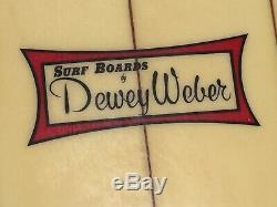 Vintage Early 80s Dewey Weber Longboard/ Surfboard