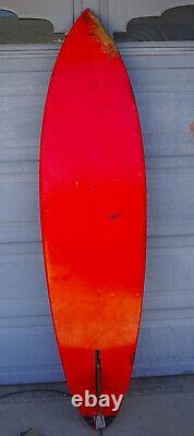 Vintage Gerry Lopez Signed Original Lightning Bolt 80 Surfboard Terry Martin TM