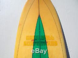Vintage Greg Noll fains formula surfboard 1968 longboard surfer surfing surf fin