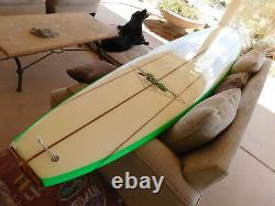 Vintage HOBIE 10' SurfBoard TRIPLE STRINGER Wood Tail Deck LongBoard NICE