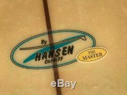 Vintage, Hansen, Master Powerflex 9'10, est. 1967 longboard, surfboard RESTORED
